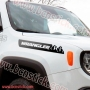"2x pegatinas capó lateral ""Jeep Wrangler"""
