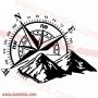 Rosa de vientos con montaña diferentes medidas