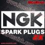 2x prgatinas de Racing NGK Spark Plugs 25x13cm unidad