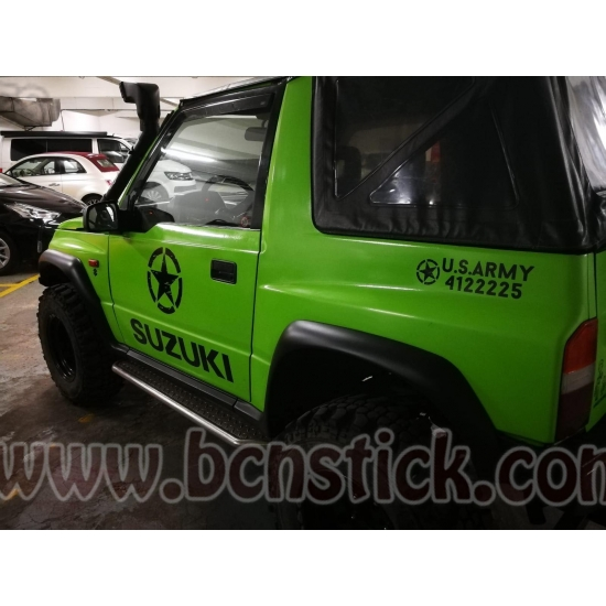 Kit laterales Suzuki estrellas militares