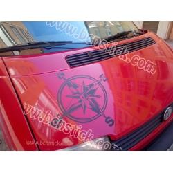 Sticker Rosa de vientos 60x60cm furgo camper