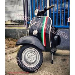 Kit 3x vinilos Italiana Bandera scooter moto Vespa 200 px pk tx iris primavera