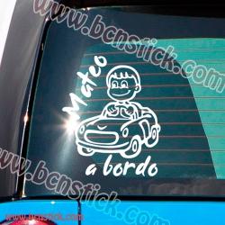 Niño a Bordo en coche