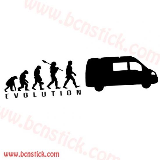 Pegatina para furgo Evolucion campista