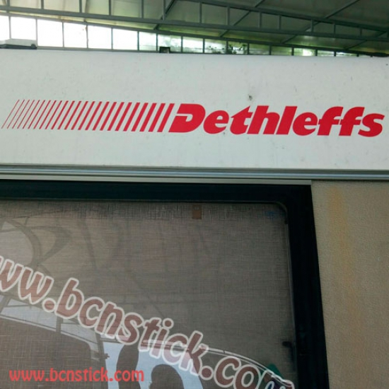 Logo Dethleffs 100x10cm