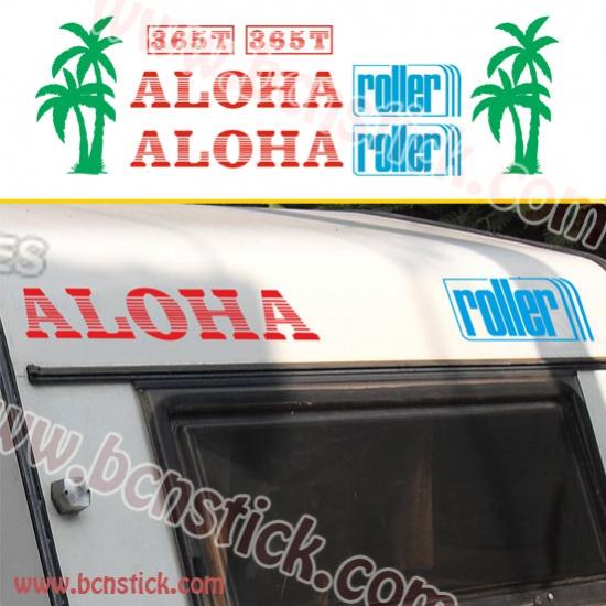 "Kit pegatinas ""ROLLER ALOHA"""