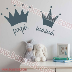 Papa Mama vinilo decorativo 60x30cm