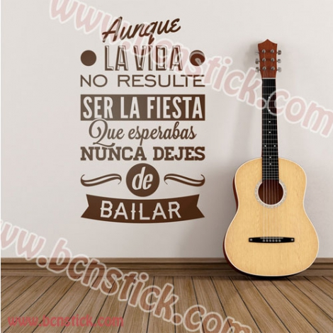 Texto decorativo para pared 100x60cm