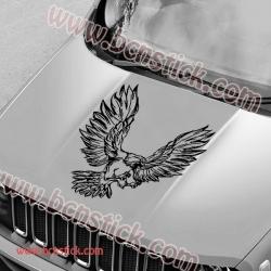 Pegatina de vinilo Águila dorada