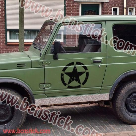 Estrella militar 4x4 (30x30cm cada puerta)