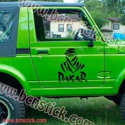 Kit de dos pegatinas DAKAR 30x33cm cada una