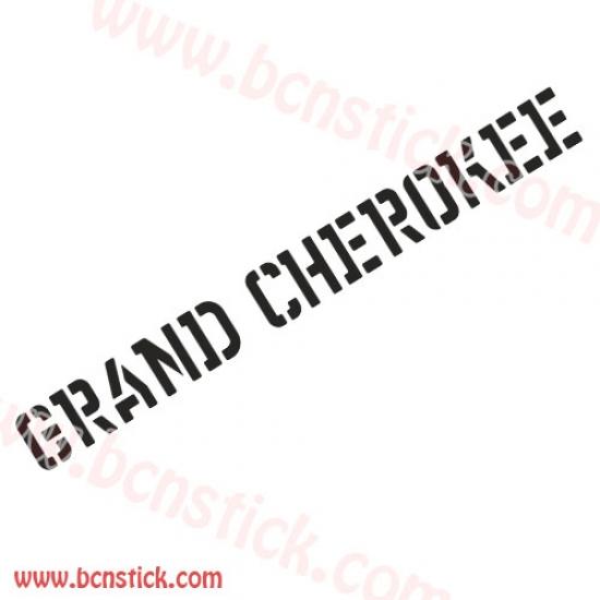 """Letras """"GRAND CHEROKEE"""" 75x7,5cm dos unidades"""
