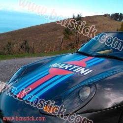 """Pegatina para capote """"Martini Racing PORSCHE"""""""
