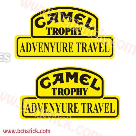 """Dos pegatinas """"CAMEL Trophy"""" 55x29cm"""