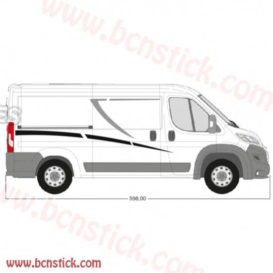 Kit linias laterales para furgoneta grande