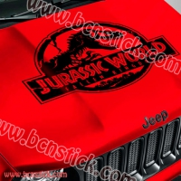 """Adhesivo para coches 4x4 todo Terreno """"Jurassic World"""""""