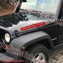 Kit 2x pegatinas - Jeep Wrangler Rubicon