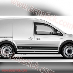 """Kit de vinilos laterales """"Outdoor Edition"""" Volkswagen Caddy 182x14cm"""