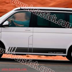 Pegatinas de vinilo Laterales Volkswagen California