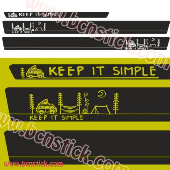 "Kit de linias universal ""CAMPER"" 232x18cm"
