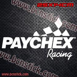 """2x Logos de Racing """"Paychex Racing"""""""