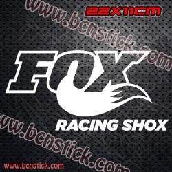 """2x Pegatinas Racing """"Fox Racing Shox"""" 22x11cm"""