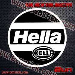 """2x Logos """"Hella"""" dos unidades 13,5x13,5cm"""