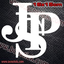 """2x Logos de Racing """"John Player Special"""" 16x15cm"""