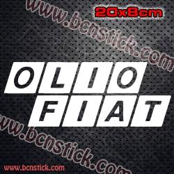 "2x Pegatinas de logo ""OLIO FIAT"""
