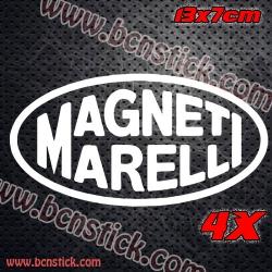 4x Logo Magneti Marelli 13x7cm unidad