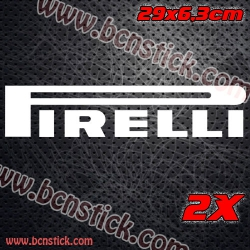 2x logos de racing PIRELLI con medida 29x6,3cm