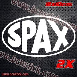 2x logos de SPAX Racing 18x10cm cada logo