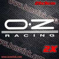 2x pegatinas de vinilo O·Z Racing 29x9cm