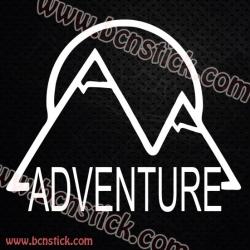 Pegatina Camper montaña Adventure