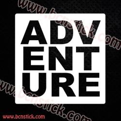"Pegatina de vinilo ""Adventure"""