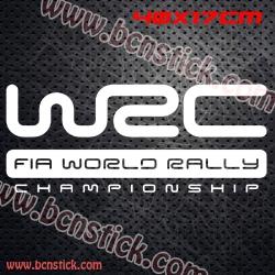 """2X Logo """"W2C - fia world ralli - championship"""" 40x17cm"""