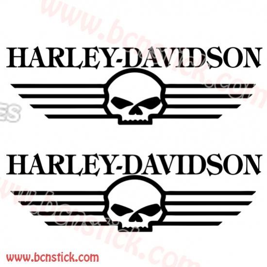 Kit pegatinas deposito Harle Davidson calavera