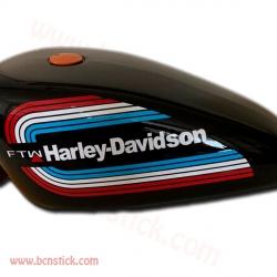 2x pegatinas para deposito Harley Davidson