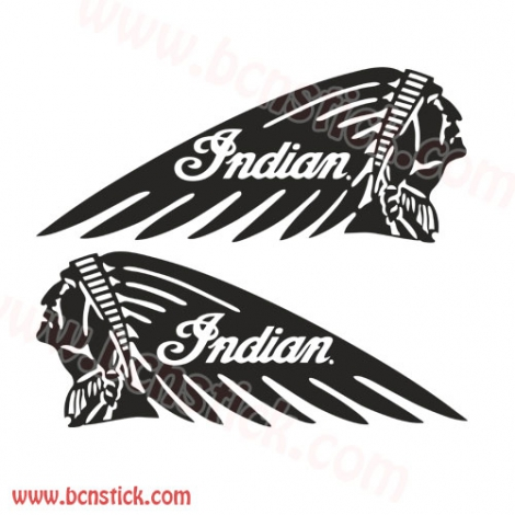 "Kit de pegatinas ""Indian"" Harley Davidson"