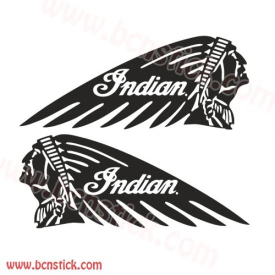 """Kit de pegatinas """"Indian"""" Harley Davidson"""