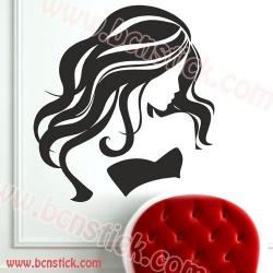 Vinilo de chica para peluquería #9