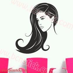 Chica con pelo largo ideal para un salon de estetica 60x70cm