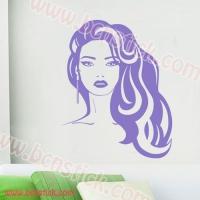 Silueta de chica para salon de belleza #11