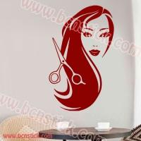 Vinilo decoración de paredes en peluquieria