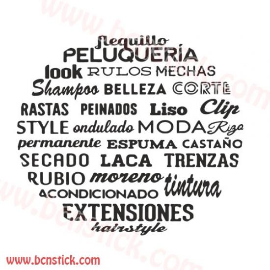 Vinilo de frases para peluqueria o salon de belleza