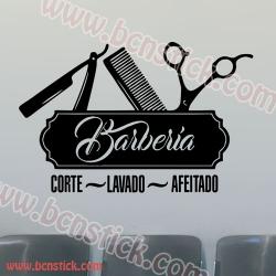 Vinilo decorativo para Barberia