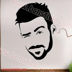 Vinilo barbería o peluquería con silueta de hombre