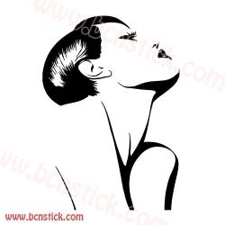Silueta de chica peluquería salon estetica #5