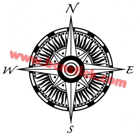 Rosa de viento estilo gotico 60x60cm