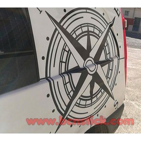 Rosa de viento clasica 60x60cm